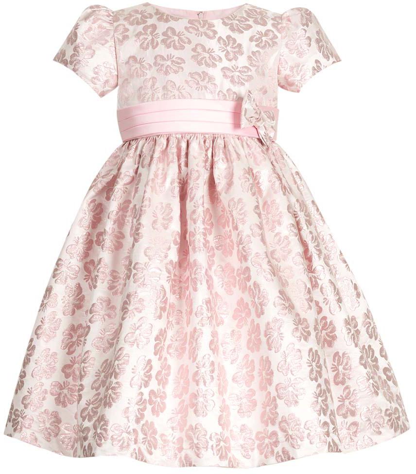 Платье для девочки Vitacci, цвет: розовый. 2172039-11. Размер 1002172039-11Нарядное платье для маленькой принцессы с круглым вырезом горловины и короткими рукавами идеально подойдет для торжественного случая или праздничного мероприятия.