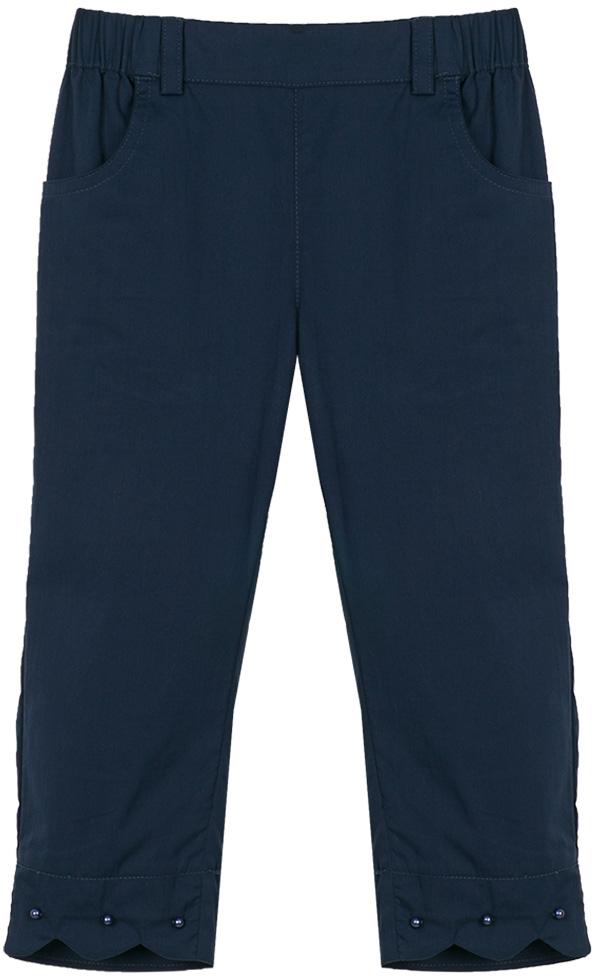 Брюки для девочки Vitacci, цвет: синий. 2172053-04. Размер 1102172053-04Удобные летние брюки для девочки подойдут на все случаи жизни.