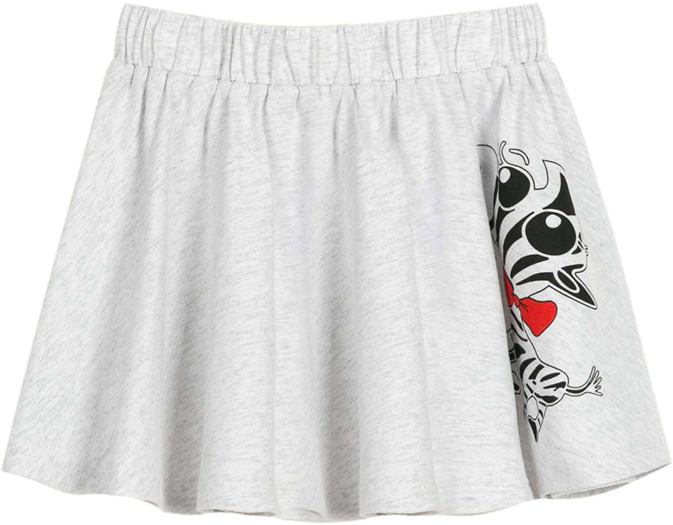 Юбка для девочки Vitacci, цвет: серый. 2172110-02. Размер 1042172110-02Замечательная трикотажная юбочка на широкой резинке с оригинальным принтом- выбор модницы в летний день.