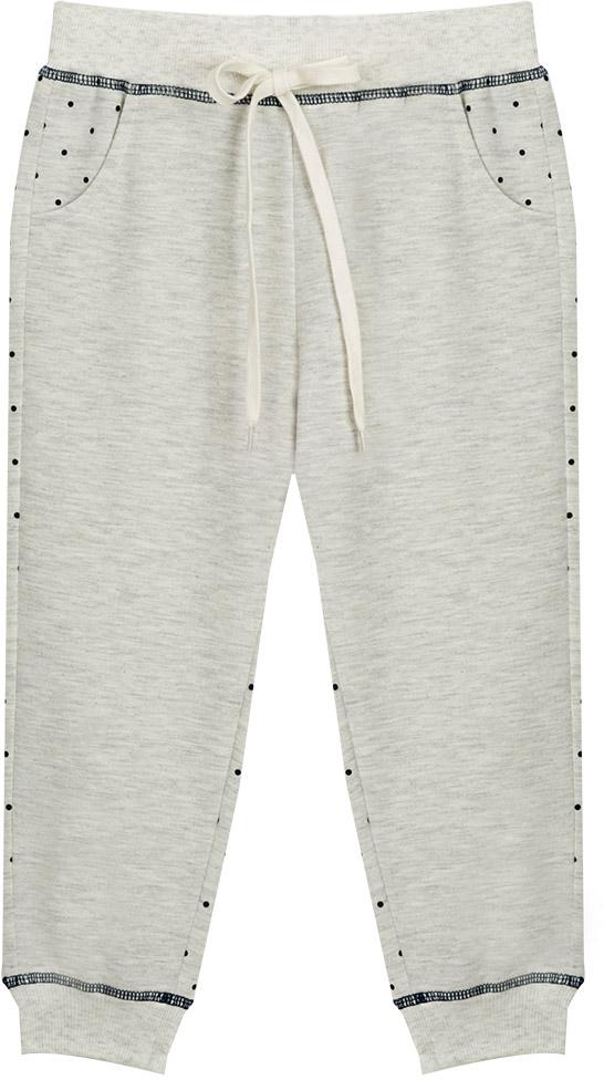 Брюки для девочки Vitacci, цвет: серый. 2172124-02. Размер 982172124-02Удобные трикотажные брюки свободного кроя - отличная модель для отдыха на природе и занятий спортом.