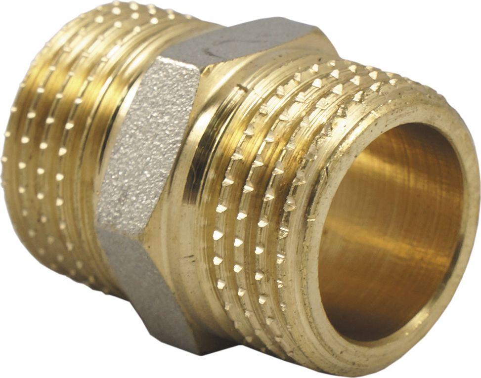 Ниппель бочонок 1 н/н Smart NSИС.072166Ниппель бочонок Smart NS предназначен для монтажа стальных труб, подключения арматуры, сантехнических приборов и оборудования, создания соединений и выполнения подключений в системах водоснабжения и отопления.Материал: латунь с никелевым покрытием Размеры: 34 x 34 x 35 мм Тип резьбы: 1M-1M Нормативный срок службы: 30 лет Максимальная рабочая температура: +200 °С Максимальное рабочее давление: 40 бар Вес: 0,07 кг.