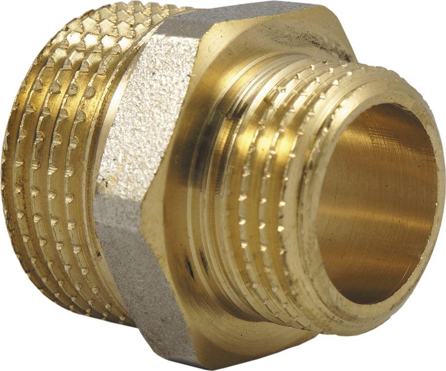 """Ниппель-переходник (бочонок) SMART NS 1/2"""" х 3/8"""" предназначен для соединения элементов  трубопровода разного диаметра, имеющих внутреннюю резьбу. Нормативный срок службы: 30 лет. Максимальная рабочая температура: +200°С. Максимальное рабочее давление: 40 бар."""