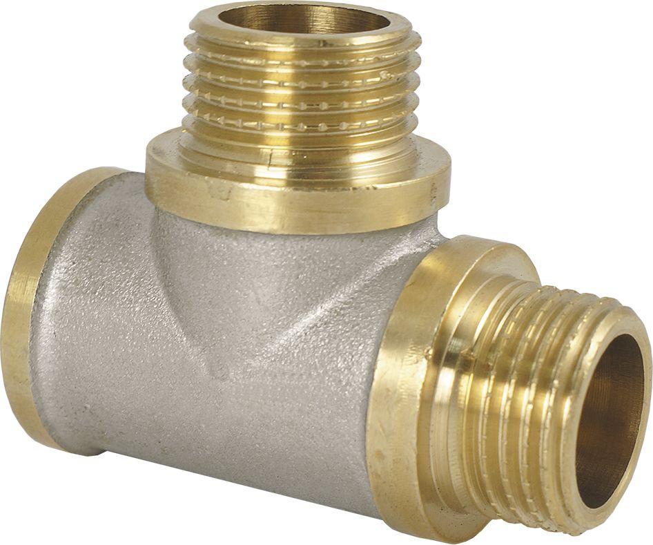Тройник Smart NS, резьба: наружная-внутренняя, 1/2ИС.072229Тройник SMART NS 1/2 - это резьбовая соединительная деталь, которая используется для создания разъемных резьбовых соединений на трубопроводах холодного питьевого, хозяйственного и горячего водоснабжения, отопления, сжатого воздуха и на технологических трубопроводах, транспортирующих газы и жидкости, неагрессивные к материалу соединителей.Нормативный срок службы: 30 лет.Максимальная рабочая температура: +200°С.Максимальное рабочее давление: 40 бар.