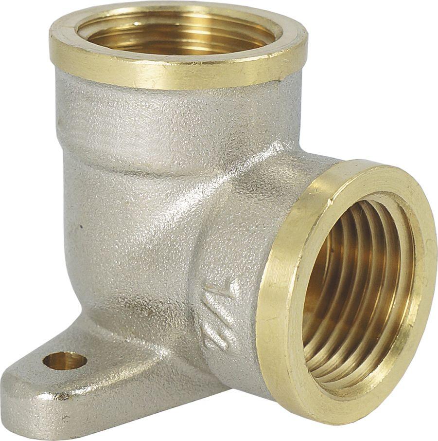 Угольник Smart NS, с креплением, резьба: внутренняя-внутренняя, 1/2ИС.072238Угольник с креплением Smart NS 1/2 предназначен для соединения труб под углом. Резьба – внутренняя/внутренняя, цилиндрическая трубная , совместимая также с наружной конической резьбой.Нормативный срок службы: 30 лет.Максимальная рабочая температура: +200°С.Максимальное рабочее давление: 40 бар.