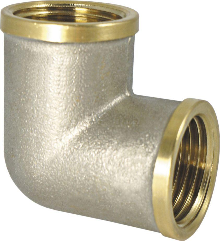 """Угольник Smart NS 1/2"""" предназначен для соединения труб под углом. Резьба – внутренняя/внутренняя, цилиндрическая трубная , совместимая также с наружной конической резьбой.Нормативный срок службы: 30 лет.Максимальная рабочая температура: +200°С.Максимальное рабочее давление: 40 бар."""