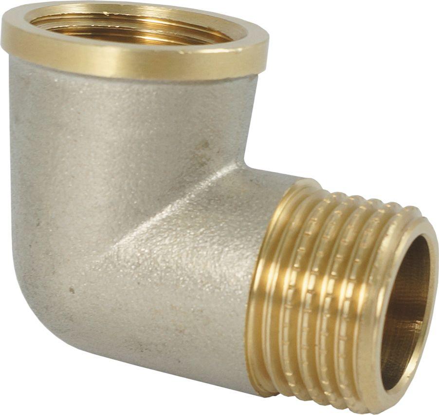 """Угольник Smart NS 3/4"""" с ограничителем предназначен для соединения труб под углом. Резьба –  внутренняя/наружная, цилиндрическая трубная. Нормативный срок службы: 30 лет. Максимальная рабочая температура: +200°С. Максимальное рабочее давление: 40 бар."""