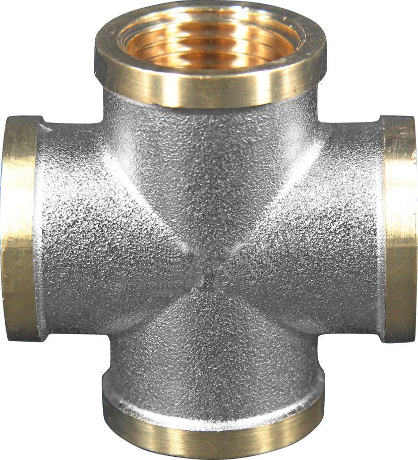 Крестовина Smart NS, резьба: внутренняя-внутренняя, 1/2ИС.072298Крестовина Smart NS 1/2 внутренняя-внутренняя-внутренняя-внутренняя резьба, четырехсторонний фитинг, равнопроходной. Предназначена для соединения труб в Х – образный узел.Нормативный срок службы: 30 лет.Максимальная рабочая температура: +200°С.Максимальное рабочее давление: 40 бар.
