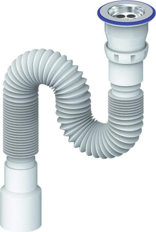Гофросифон универсальный Unicorn, 800 мм, 1.1/2х40/50ИС.110323Гофросифон универсальный Unicorn - это сантехническая гофра для соединения узлов, выполненная из специального пластика. Сифон снабжен прикручивающимся выпуском 1.1/2 (диаметр 40 мм): с винтом 6х70, с нержавеющей чашкой диаметр 40 х 40/50. Резьба: муфта-наружная. Длина трубы: 800 мм. Размер: 1.1/2х40/50.