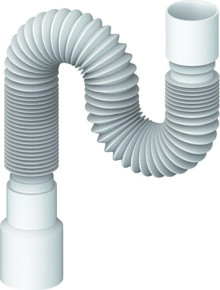 Гибкая труба универсальная Unicorn, 800 мм, 40х40/50ИС.110325Гибкая труба универсальная Unicorn - это сантехническая гофра для соединения узлов, выполненная из специального пластика. Без резьбы. Длина трубы: 800 мм. Размер: 40х40/50.