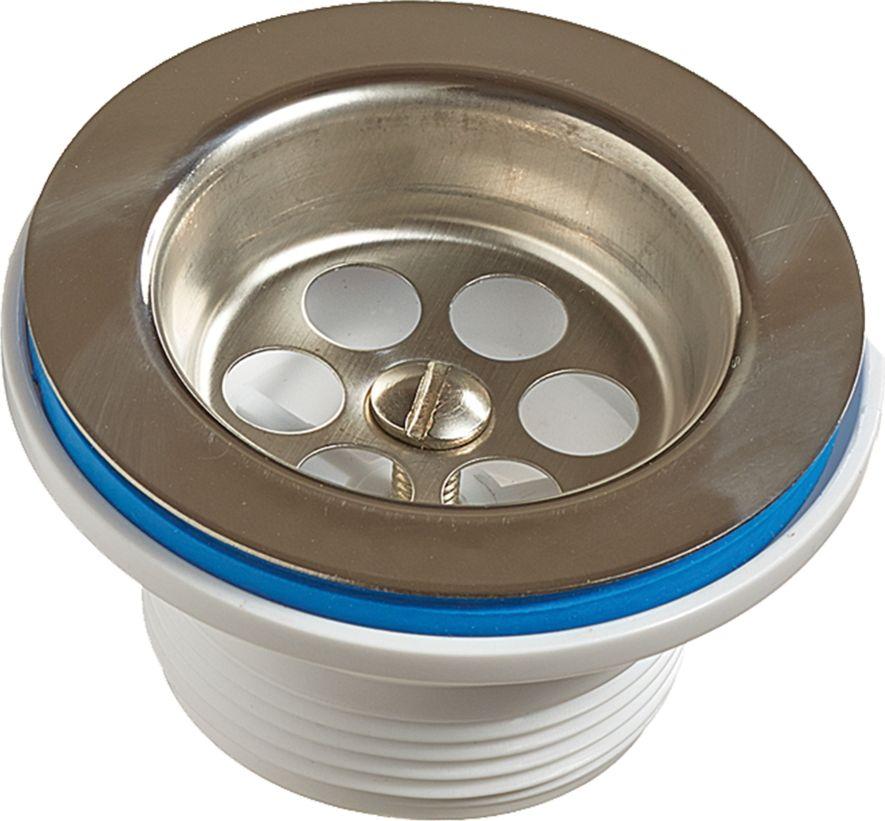 Выпуск Unicorn, диаметр 1.1/2, чашка 70 ммИС.110333Выпуск Unicorn устанавливается в раковину и используется для сливного шланга. Выпуск выполнен из пластика и снабжен чашкой из нержавеющей стали. Резьба: HP (наружная). Диаметр выпуска: 1.1/2. Диаметр чашки: 70 мм.