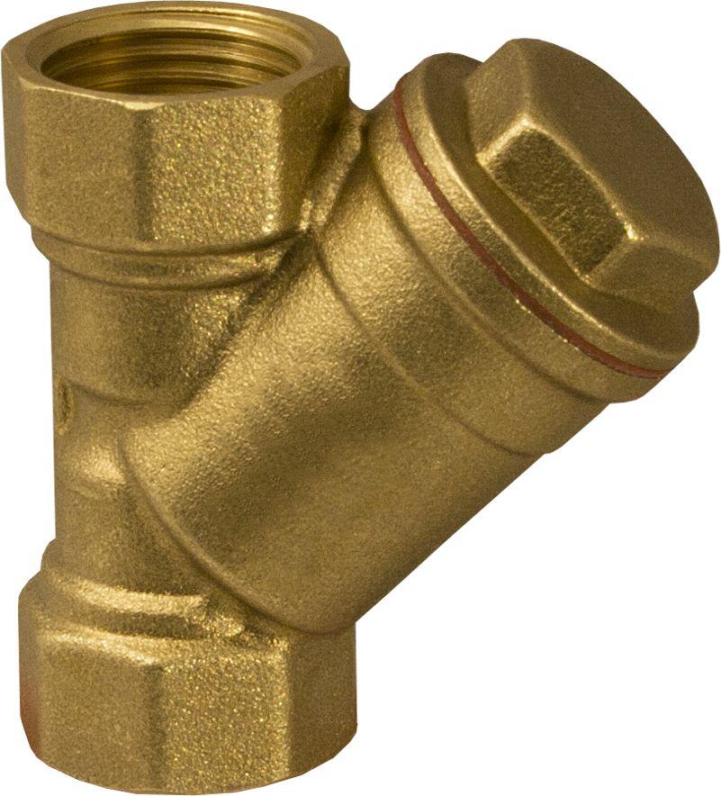 Aqualink Фильтр косой 1/2 в/в NSLG KVN6403AFФильтр косой предназначен для предварительной очистки потока среды трубопровода от механических примесей. На каждом изделии указано направление потока. Корпус фильтра изготовлен из латуни. Материал прокладки: тефлон Нормативный срок службы: 25 лет Размер ячейки сетки: 400 мкм Максимальная рабочая температура: +125°С Максимальное рабочее давление: 20Бар