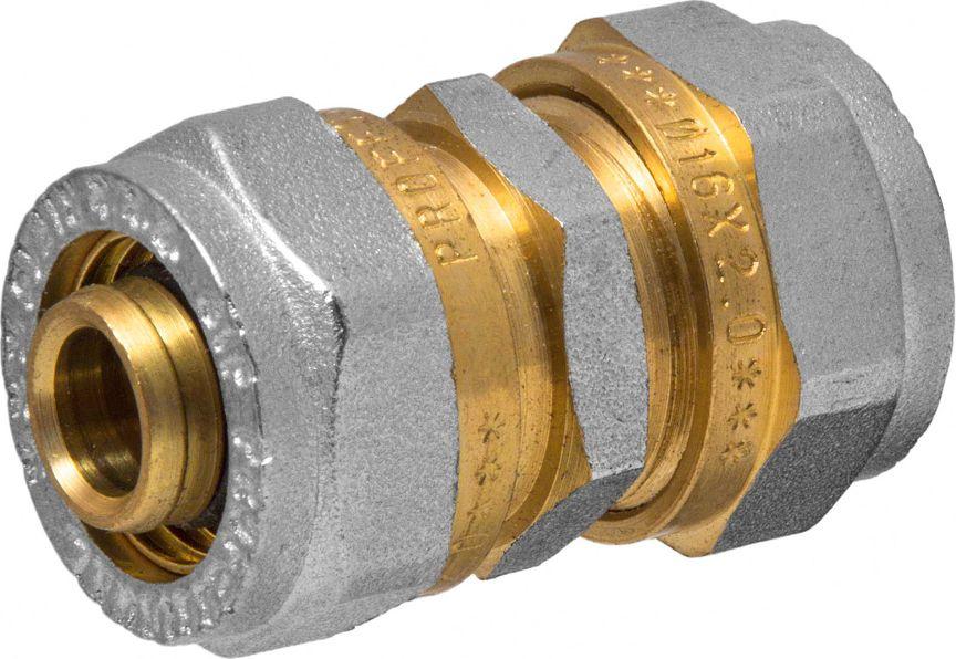 Соединитель RVC, ц/ц, 16 х 16 мм30665Соединитель RVC предназначен для соединения металлопластиковых труб. При установкеданного фитинга не требуется специальное оборудование, достаточно разводного ключа.Соединение получается разъемным, что позволяет при необходимости произвести обслуживаниеучастка трубопровода. Для обслуживания самого фитинга достаточно сменить уплотнительныекольца. Рабочая температура до 95 С, нормативное рабочее давление до 10 бар. Материалкорпуса - никелированная латунь CW617N.