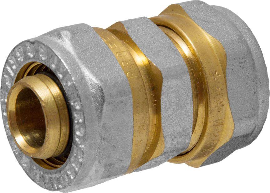 Соединитель RVC, ц/ц, 20 x 20 ммИС.072540Соединитель RVC предназначен для соединения металлопластиковых труб. При установке данного фитинга не требуется специальное оборудование, достаточно разводного ключа. Соединение получается разъемным, что позволяет при необходимости произвести обслуживание участка трубопровода. Для обслуживания самого фитинга достаточно сменить уплотнительные кольца. Рабочая температура до 95 С, нормативное рабочее давление до 10 бар. Материал корпуса - никелированная латунь CW617N.