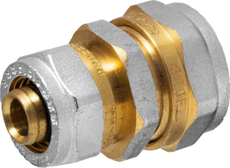 Соединитель RVC, ц/ц, 20 х 16 ммИС.072542Соединитель RVC предназначен для соединения металлопластиковых труб. При установке данного фитинга не требуется специальное оборудование, достаточно разводного ключа. Соединение получается разъемным, что позволяет при необходимости произвести обслуживание участка трубопровода. Для обслуживания самого фитинга достаточно сменить уплотнительные кольца. Рабочая температура до 95 С, нормативное рабочее давление до 10 бар. Материал корпуса - никелированная латунь CW617N.