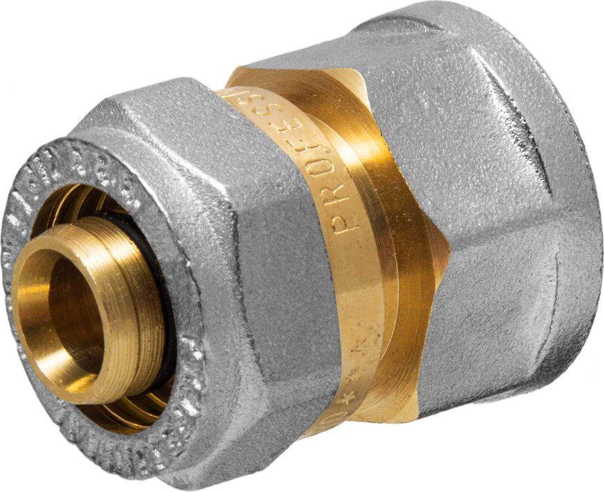 Соединитель RVC, ц/г, внутренняя резьба 16 мм х 1/2ИС.072544Соединитель RVC предназначен для соединения металлопластиковых труб. При установке данного фитинга не требуется специальное оборудование, достаточно разводного ключа. Соединение получается разъемным, что позволяет при необходимости произвести обслуживание участка трубопровода. Для обслуживания самого фитинга достаточно сменить уплотнительные кольца. Рабочая температура до 95 С, нормативное рабочее давление до 10 бар. Материал корпуса - никелированная латунь CW617N.