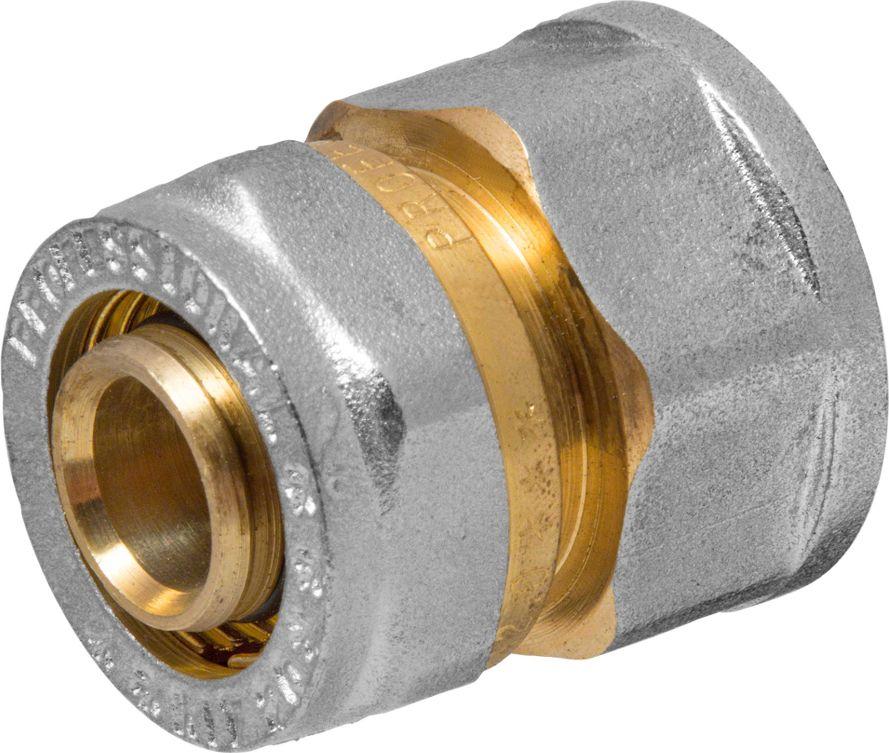Соединитель RVC, ц/г, внутренняя резьба 20 мм х 3/4ИС.072547Соединитель RVC предназначен для соединения металлопластиковых труб. При установке данного фитинга не требуется специальное оборудование, достаточно разводного ключа. Соединение получается разъемным, что позволяет при необходимости произвести обслуживание участка трубопровода. Для обслуживания самого фитинга достаточно сменить уплотнительные кольца. Рабочая температура до 95 С, нормативное рабочее давление до 10 бар. Материал корпуса - никелированная латунь CW617N.