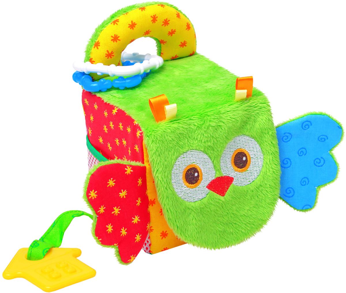 Мякиши Развивающая игрушка Кубик сова мягкая игрушка развивающая k s kids часы сова