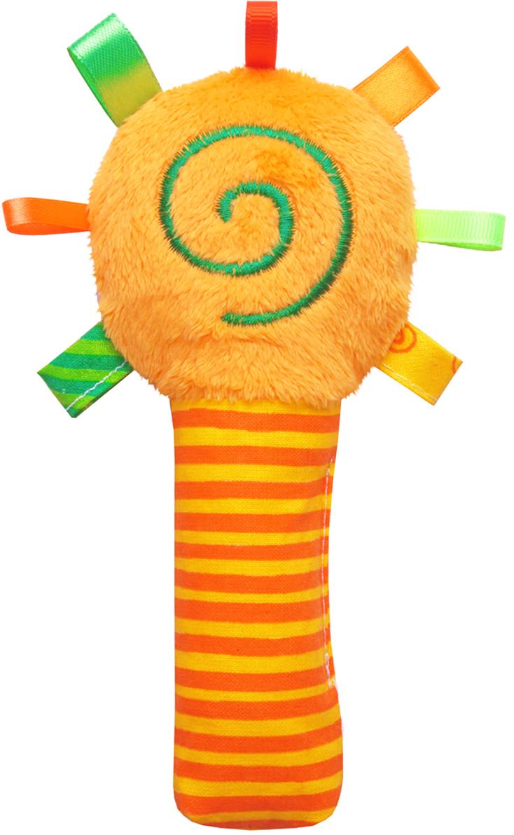 Мякиши Мягкая игрушка-погремушка ШуМякиши Маракас цвет оранжевый цена 2017