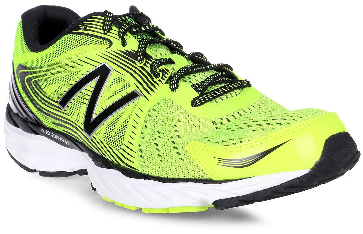 Кроссовки для бега мужские New Balance 680, цвет: салатовый, черный. M680LY4/D. Размер 9 (42,5)M680LY4/DМужские кроссовки для бега от New Balance выполнены из высококачественного материала. На язычке изделие оформлено фирменным логотипом. Шнуровка надежно фиксирует обувь на ноге. Подкладка и стелька из текстиля, обеспечат комфорт и уют, вашим ногам. Рельефный рисунок подошвы предотвращает скольжение. В таких кроссовках вашим ногам будет комфортно и уютно. Они подчеркнут ваш стиль и индивидуальность!