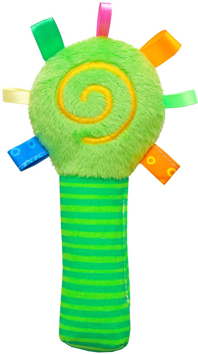 Мякиши Мягкая игрушка-погремушка ШуМякиши Маракас цвет зеленый игрушка погремушка мякиши медвежонок колечко