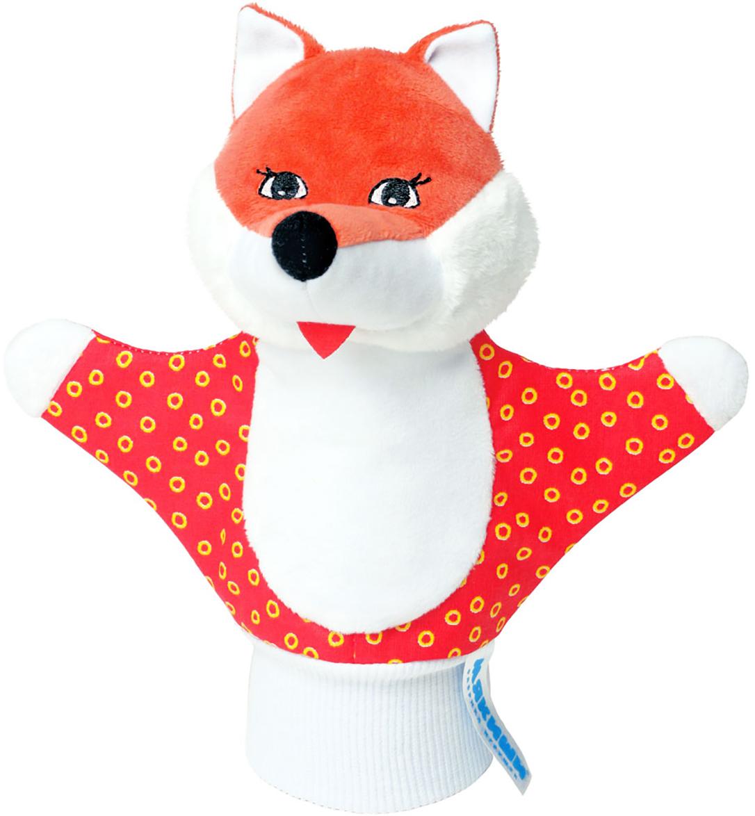 Мякиши Мягкая игрушка на руку Лисичка цвет красный мякиши лисичка