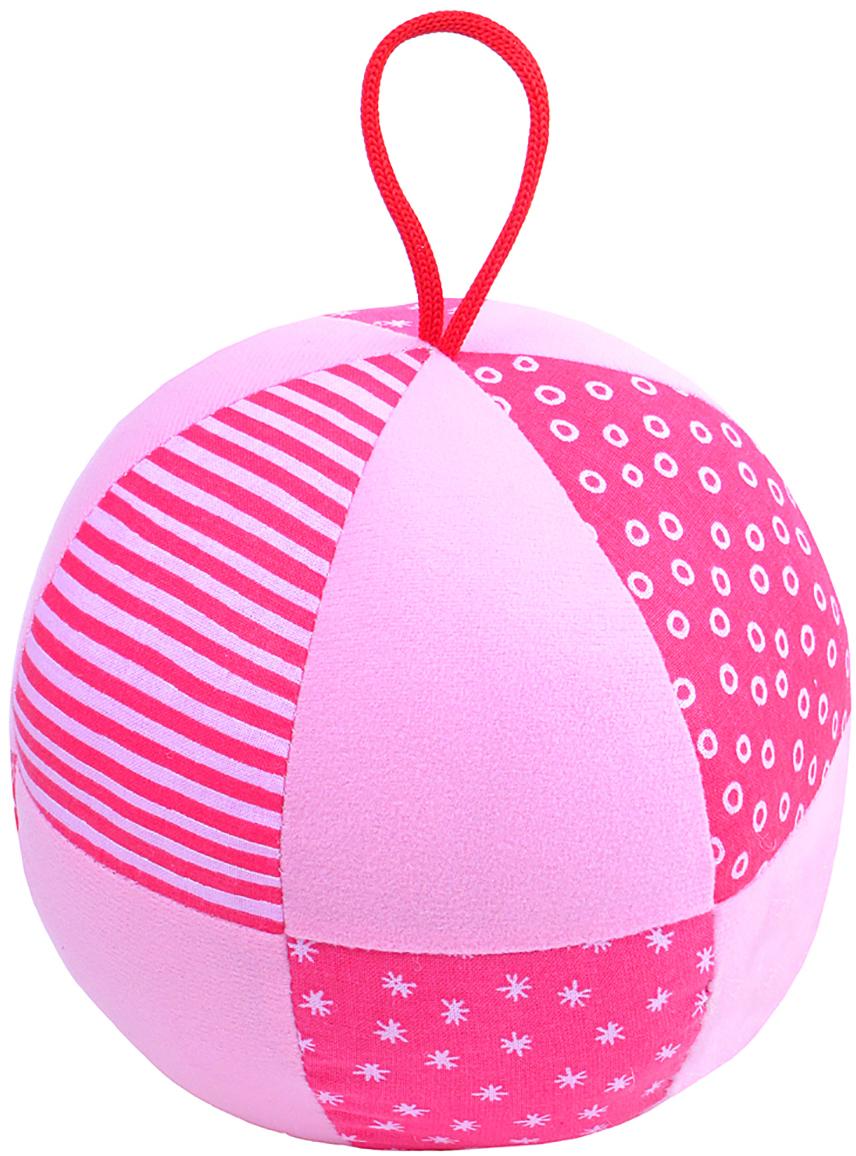 Мякиши Развивающая игрушка Веселый мячик цвет розовый игрушка погремушка мякиши медвежонок колечко
