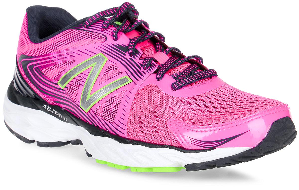 Кроссовки для бега женские New Balance 680, цвет: розовый, черный. W680LL4/B. Размер 8,5 (40)W680LL4/BЖенские кроссовки для бега от New Balance выполнены из высококачественного материала. На язычке изделие оформлено фирменным логотипом. Шнуровка надежно фиксирует обувь на ноге. Подкладка и стелька из текстиля, обеспечат комфорт и уют, вашим ногам. Рельефный рисунок подошвы предотвращает скольжение. В таких кроссовках вашим ногам будет комфортно и уютно. Они подчеркнут ваш стиль и индивидуальность!
