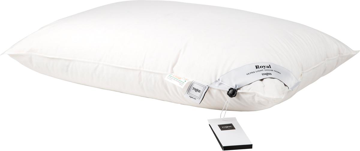 Подушка Togas Роял, наполнитель: пух, цвет: белый, 50 х 70 см