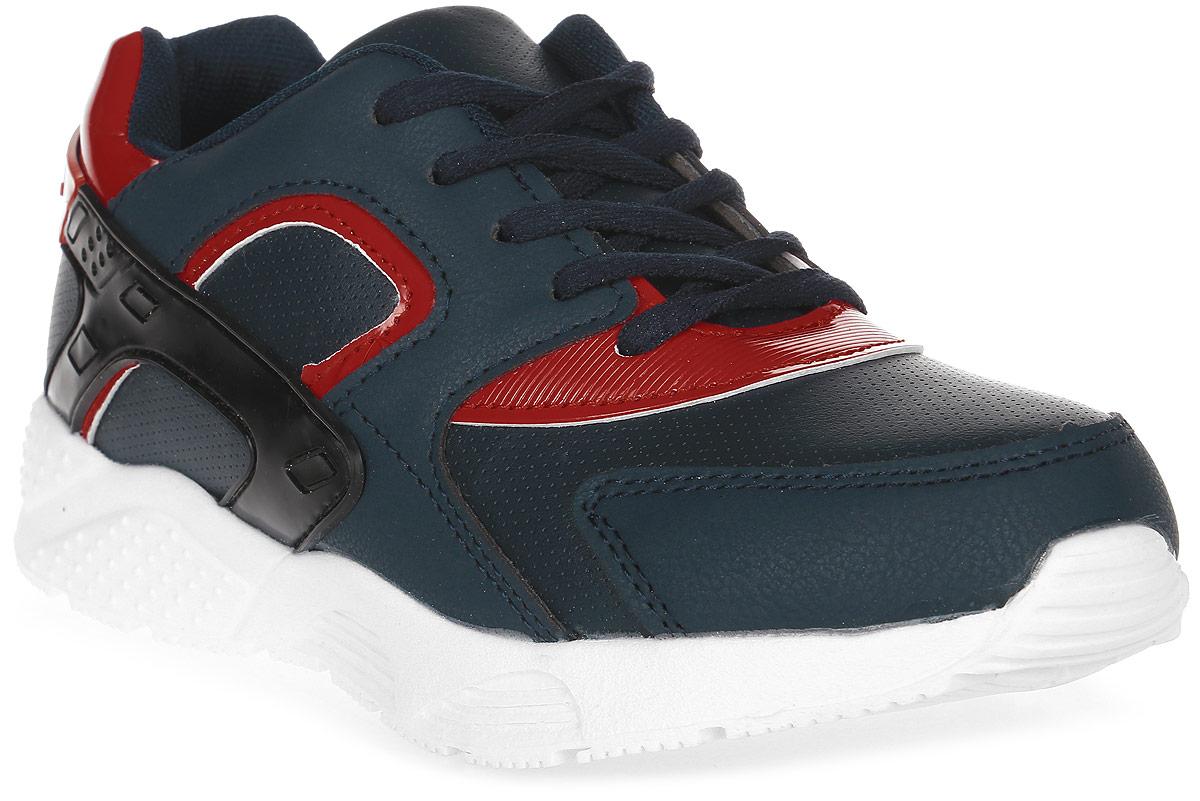 Кроссовки для мальчика Patrol, цвет: темно-синий, красный. 967-637T-17s-01-42. Размер 31967-637T-17s-01-42Стильные кроссовки от Patrol - отличный выбор для вашего мальчика на каждый день. Верх модели выполнен из искусственной кожи и оформлен перфорацией и декоративной прострочкой. Шнуровка обеспечивает надежную фиксацию обуви на ноге. Подкладка и стелька из текстильного материала создают комфорт при носке. Подошва выполнена из легкого пенопропилена.Рифление на подошве обеспечивает отличное сцепление с любой поверхностью.Модные и комфортные кроссовки - необходимая вещь в гардеробе каждого ребенка.