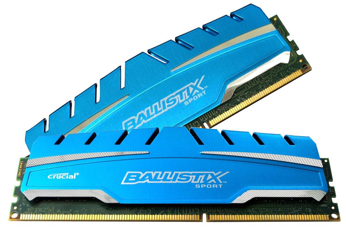 Crucial Ballistix Sport XT DDR3 2x8Gb 1866 МГц комплект модулей оперативной памяти (BLS2C8G3D18ADS3CEU)BLS2C8G3D18ADS3CEUМодули оперативной памяти Crucial Ballistix Sport XT типа DDR3 предоставляют качество работы, надежность и производительность, требуемую для современных компьютеров сегодня. Оснащены теплоотводом, выполненным из чистого алюминия, что ускоряет рассеяние тепла.Общий объем памяти составляет 16 ГБ, что позволит свободно работать со стандартными, офисными и профессиональными ресурсоемкими программами, а также современными требовательными играми. Работа осуществляется при тактовой частоте 1866 МГц и пропускной способности, достигающей до 14900 Мб/с, что гарантирует качественную синхронизацию и быструю передачу данных, а также возможность выполнения множества действий в единицу времени. Параметры тайминга 10-10-10-30 гарантируют быструю работу системы. Имеется поддержка XMP для удобного разгона в автоматическом режиме.