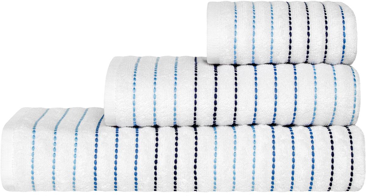 Полотенце Togas  Висанто , цвет: белый, синий, 70 х 140 см - Полотенца