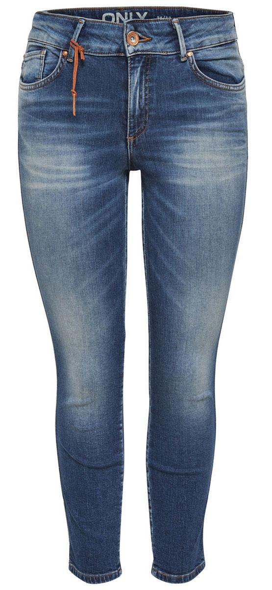 Джинсы женские Only, цвет: темно-синий. 15134523_Dark Blue Denim. Размер 29-34 (44/46-34)15134523_Dark Blue DenimСтильные женские джинсы Only - это джинсы высокого качества, которые прекрасно сидят. Они обеспечивают комфорт и удобство при носке. Прямые джинсы-скинни станут отличным дополнением к вашему современному образу. Джинсы застегиваются на пуговицу в поясе и ширинку на застежке-молнии, имеются шлевки для ремня. Джинсы имеют классический пятикарманный крой: спереди модель оформлена двумя втачными карманами и одним маленьким накладным кармашком, а сзади - двумя накладными карманами.Эти модные и в тоже время комфортные джинсы послужат отличным дополнением к вашему гардеробу.