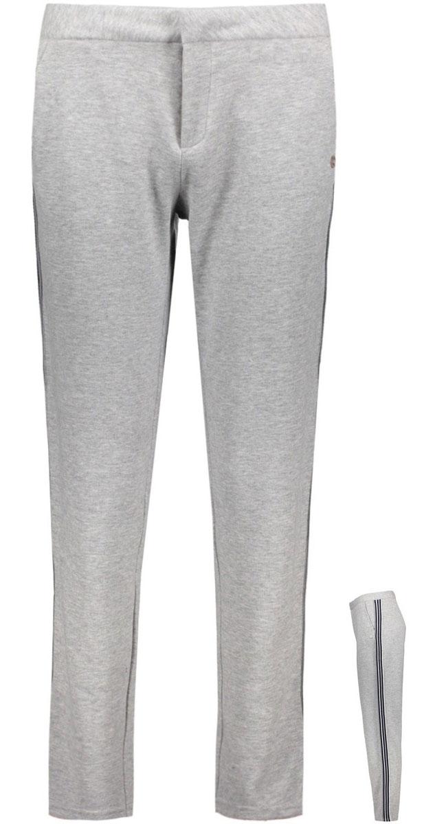 Брюки женские Only, цвет: серый. 15135676_Light Grey Melange. Размер 42 (48)15135676_Light Grey MelangeСпортивные брюки Only зауженного кроя. Модель выполнена из плотного трикотажа. Застежка на крючок и молнию, два внешних кармана, имитация карманов сзади.