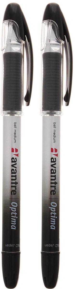 Ручка шариковая Avantre Optima, цвет: черный, 2 штBP01BT2-9