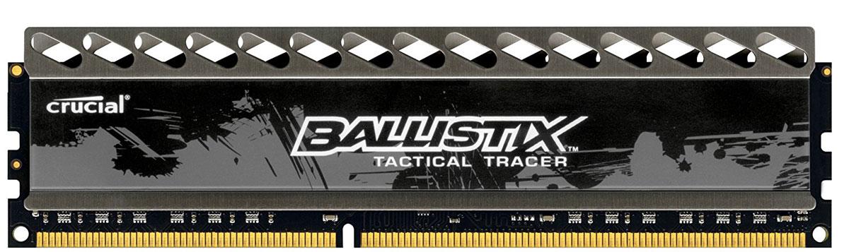 Crucial Ballistix Tactical Tracer DDR3 4Gb 1866 МГц модуль оперативной памяти (BLT4G3D1869DT2TXOBCEU)BLT4G3D1869DT2TXOBCEUМодуль Crucial Ballistix Tactical Tracer типа DDR3разработан с учетом потребностей оверклокеров и требовательных геймеров. Алюминиевый радиатор модуля осуществляет теплоотвод и служит элементом агрессивного дизайна, который отлично подходит для геймерских компьютеров. Данный модуль памяти оснащен яркой светодиодной подсветкой.Модуль работает при тактовой частоте 1866 МГц и пропускной способности, достигающей до 14900 Мб/с, что гарантирует качественную синхронизацию и быструю передачу данных, а также возможность выполнения множества действий в единицу времени. Параметры тайминга 9-9-9-27 гарантируют быструю работу системы.