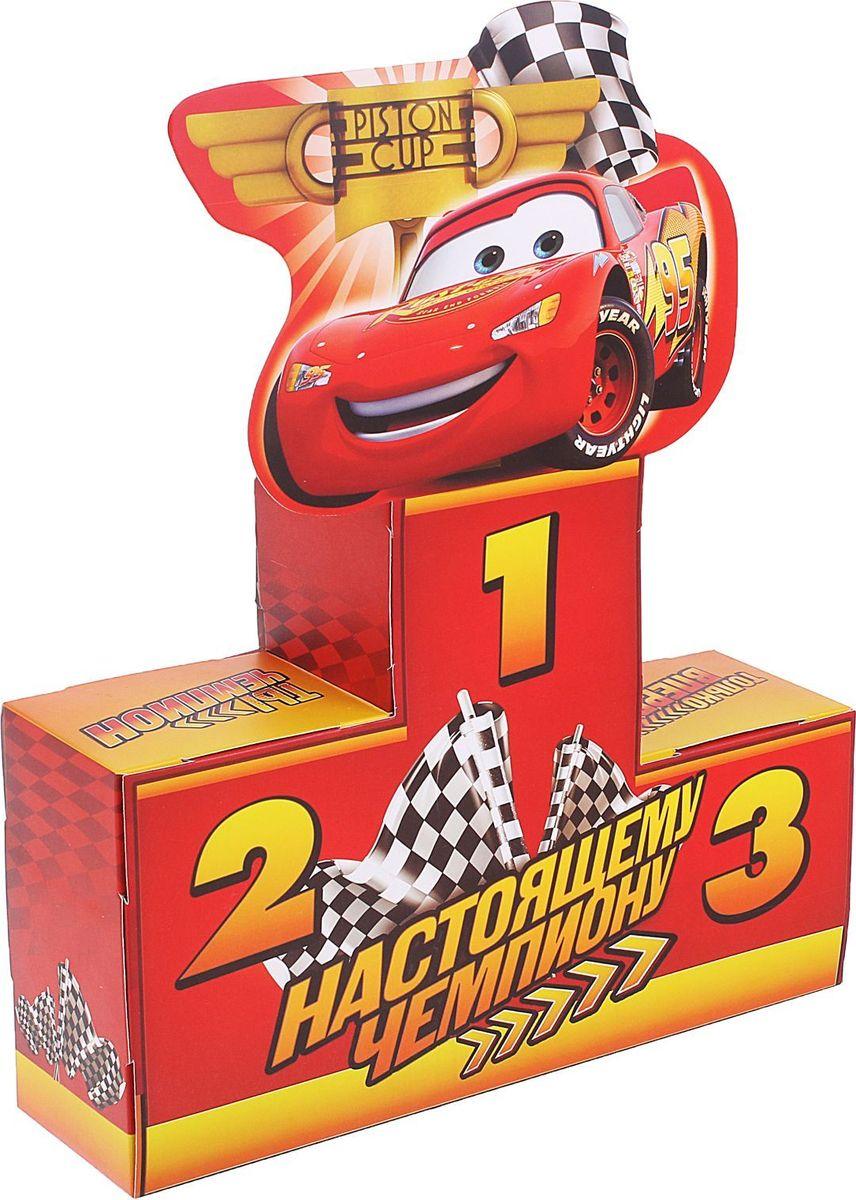 Disney Коробка подарочная складная Настоящему чемпиону Тачки 30 х 8 х 22 см