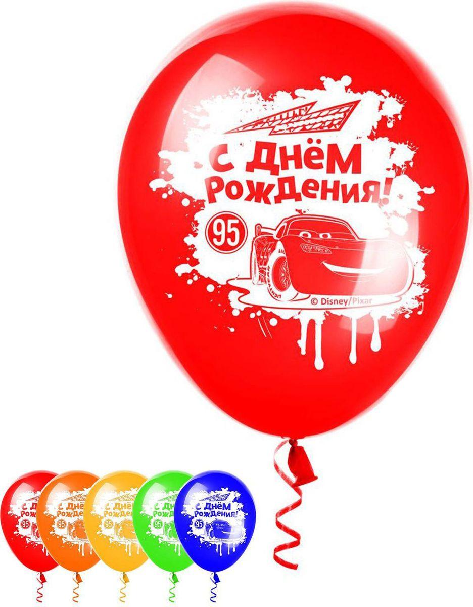 Disney Набор воздушных шаров С днем рождения Тачки 5 шт 1442476 disney гирлянда детская резная с подвесками с днем рождения тачки 200 см