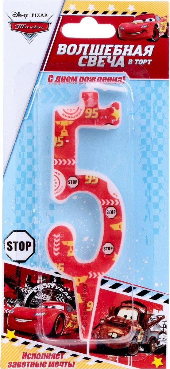 Disney Свеча для торта Тачки С днем рождения Цифра 5 1446499