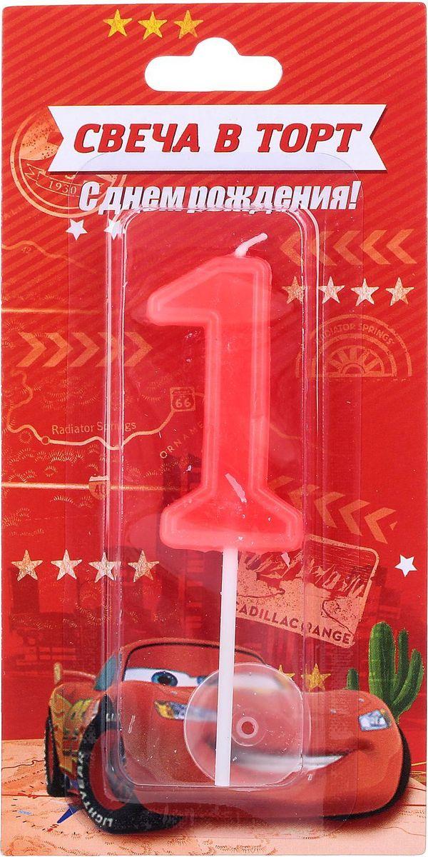 Disney Свеча для торта Тачки С днем рождения Цифра 1 1458826