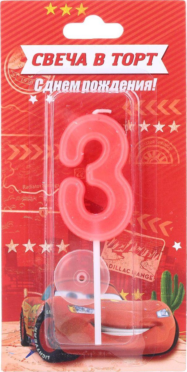 Disney Свеча для торта Тачки С днем рождения Цифра 3 1458828