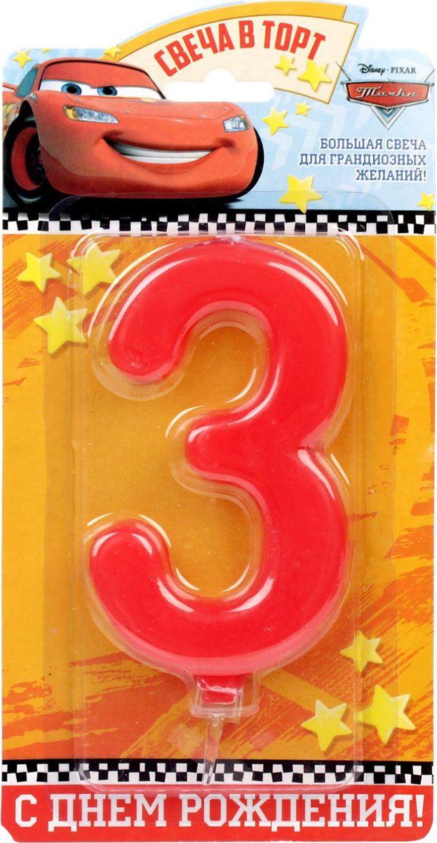 Disney Свеча для торта Тачки С днем рождения Цифра 3 1689424