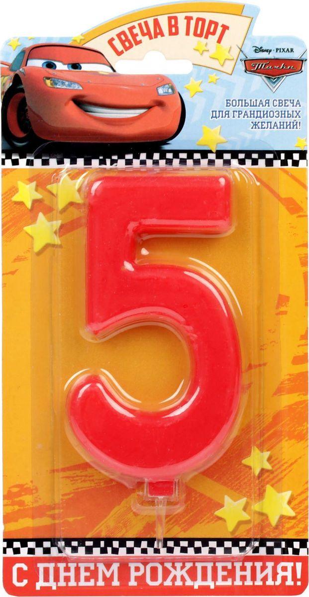 Disney Свеча для торта Тачки С днем рождения Цифра 5 1689426