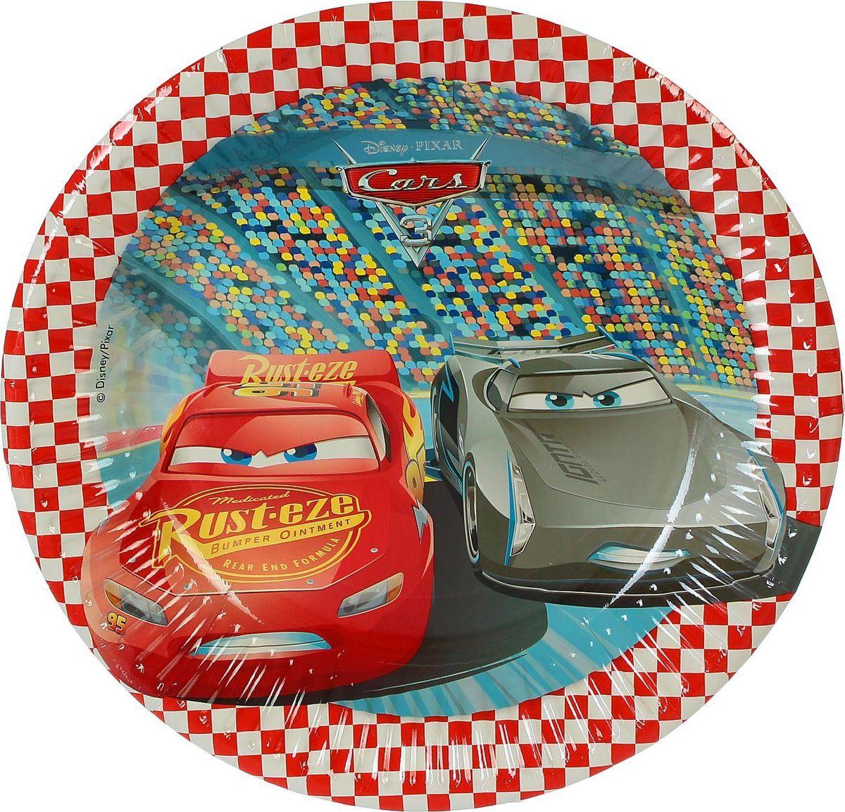 Procos Тарелка бумажная Тачки 3 диаметр 20 см 8 шт procos тарелка самолеты 20 см 8 шт