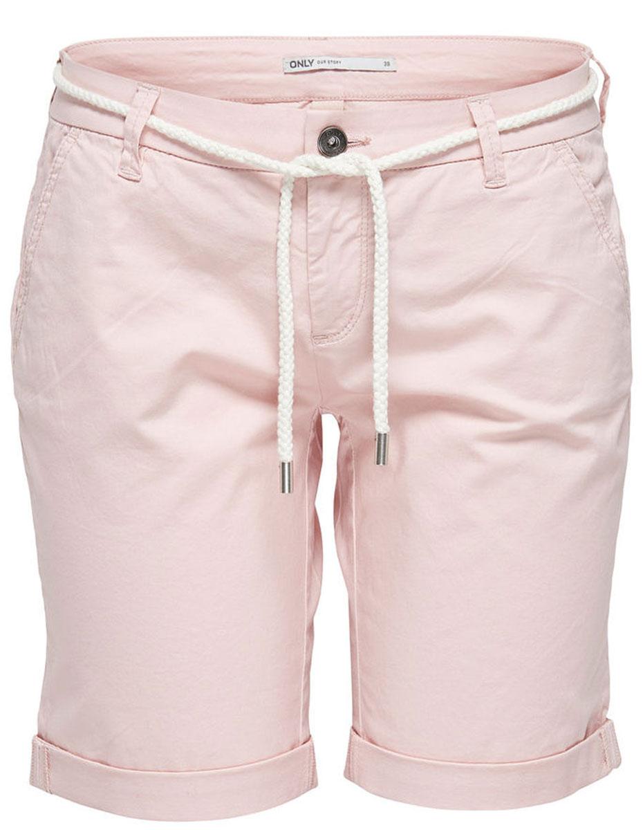 Шорты женские Only, цвет: розовый. 15134356_Peach Whip. Размер 40 (46) шорты женские only цвет синий 15134356