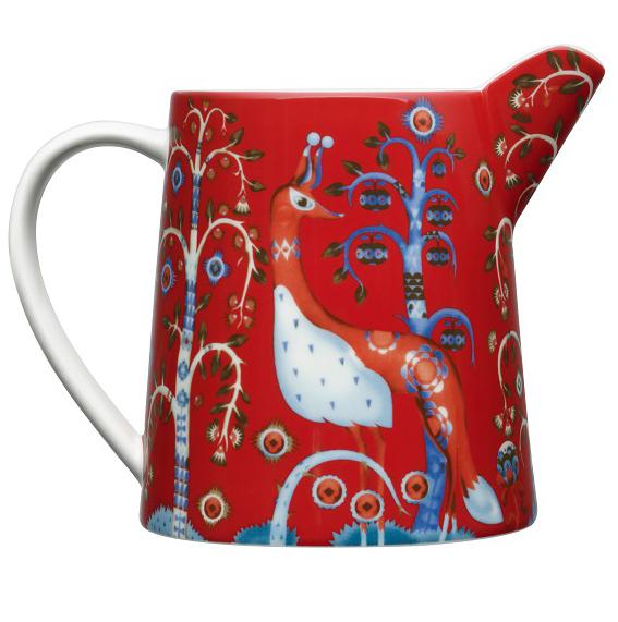 Кувшин Iittala Taika, цвет: красный, 0,5 л. 10139081013908Кувшин Iittala Taika выполнен из качественного жароустойчивого прочного фарфора с долговечным стекловидным эмалевым покрытием. Можно мыть в посудомоечной машине.Объем: 0,5 л.