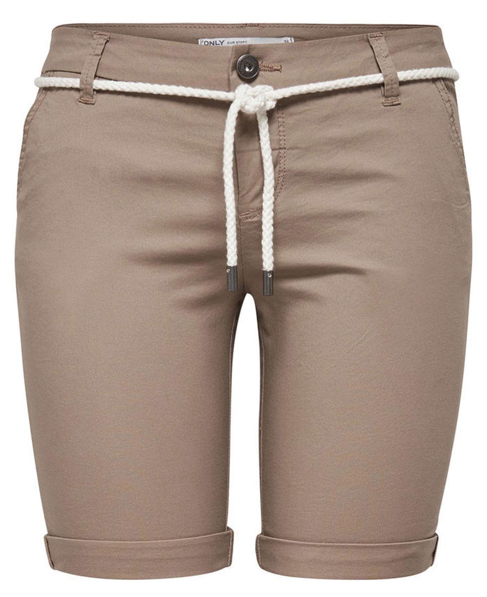 Шорты женские Only, цвет: коричневый. 15134356_Desert Taupe. Размер 38 (44) шорты женские only цвет синий 15134356
