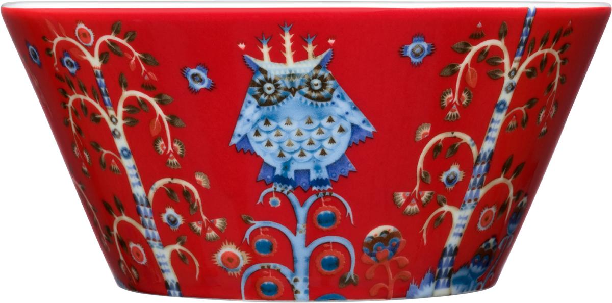 Чаша Iittala Taika, цвет: красный, 300 мл1014066Чаша Iittala Taika выполнена из качественного жароустойчивого прочного фарфора. Чаша имеет стильный дизайн, поэтому сможет украсить любую кухню.Можно мыть в посудомоечной машине. Объем:: 300 мл.