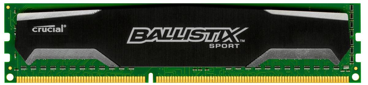 Crucial Ballistix Sport DDR3 8Gb 1600 МГц модуль оперативной памяти (BLS8G3D1609DS1S00CEU)