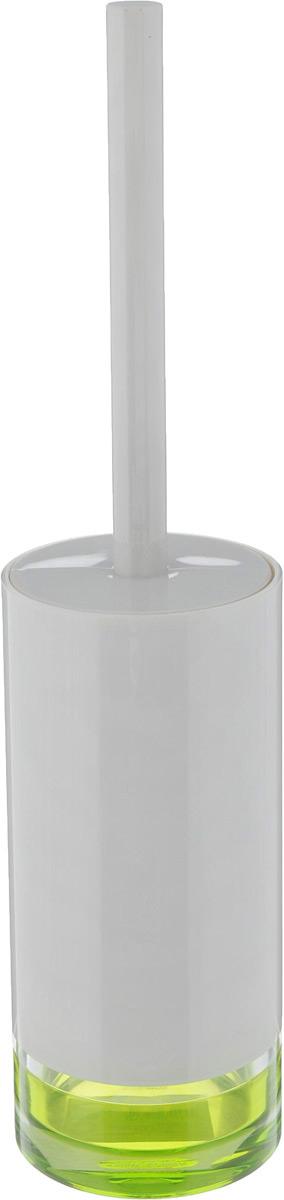 Гарнитур для туалета Tatkraft Topaz Green, 2 предмета12714Гарнитур для туалета Tatkraft Topaz Green состоит из ершика и подставки, выполненных из акрила. Ершик оснащен удобной ручкой и жесткой щетиной. Основание подставки дополнено яркой вставкой. Функциональный гарнитур Tatkraft Topaz Green оригинально оформит интерьер туалетной комнаты.Размер подставки: 8 х 8 х 19 см. Длина ершика: 34 см.Длина ворса ершика: 1,5 см.