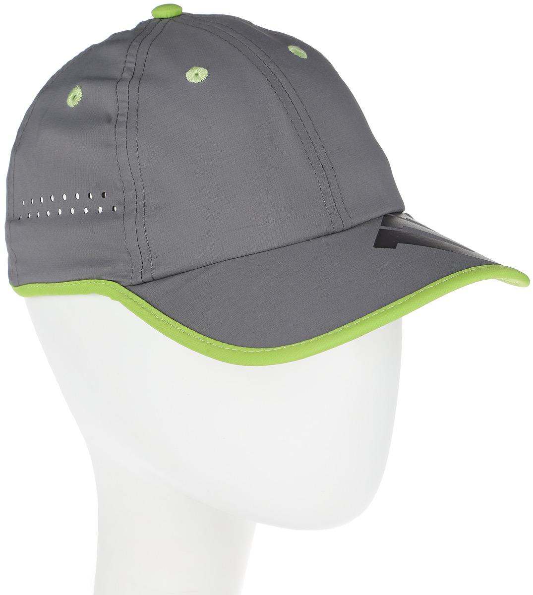 Бейсболка для тенниса женская Wilson Baseboll Hat, цвет: серый. WRA733703. Размер универсальныйWRA733703Бейсболка Wilson является отличным аксессуаром для занятий спортом. Удобная и практичная, она обеспечит вам надежную защиту от неблагоприятных погодных условий. Вентиляционные отверстия и эластичный край для комфортной посадки.